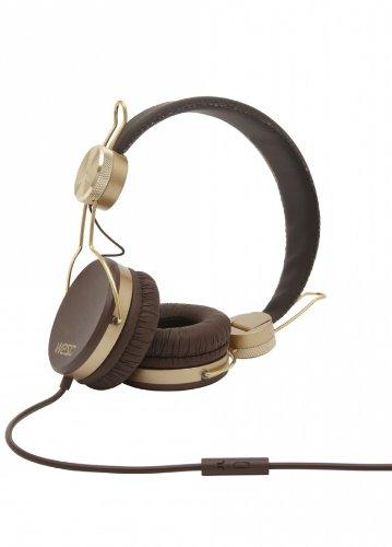 Wesc 0006924877 Banjar Golden Headphones With Mic, Dark Chocolate