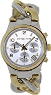 Michael Kors Twist Chain Chronograph White Dial Ladies Watch