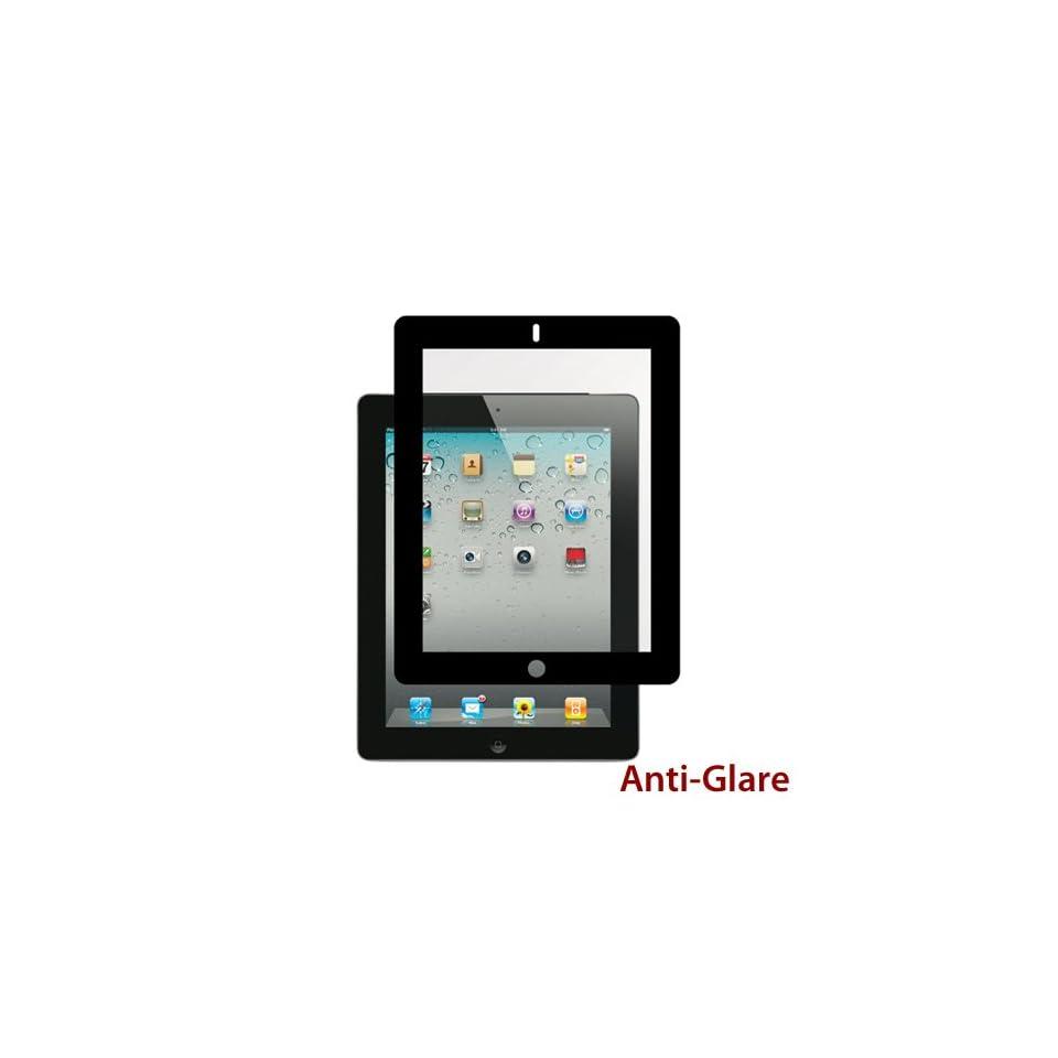 Apple iPad 2   3 Premium Anti Glare Black Bubble Free LCD Screen Protector Cover Guard Shield Film   1 Pack