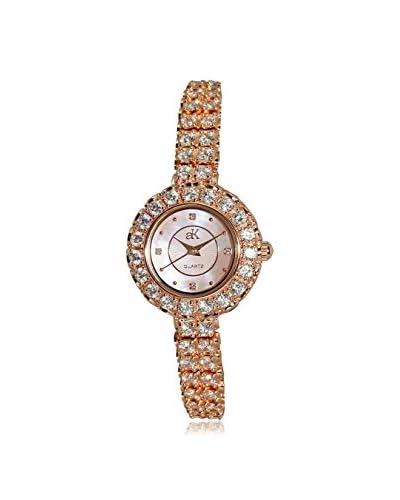 Adee Kaye Women's AK29-LRG Mother-of-Pearl, Crystal & Brass Watch