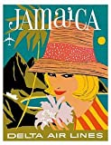 img - for World Travel Giclee Art Print Delta Air Lines Jamaica 11 x 14 in. book / textbook / text book