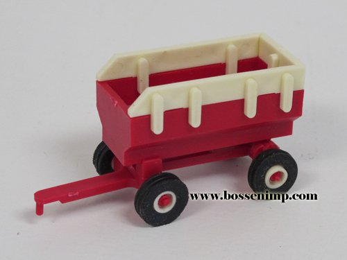 Wagon Flare box with hoist 1:64 Scale Red