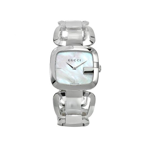 Gucci YA125404 - Reloj de pulsera mujer, acero inoxidable, color plateado