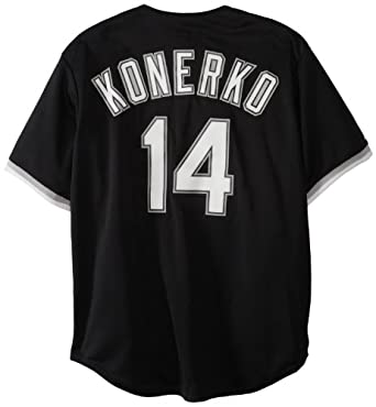 MLB Chicago White Sox Paul Konerko Black Baseball Jersey Spring 2012 Mens by Majestic