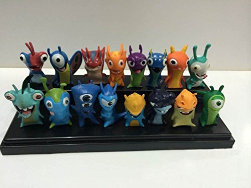 TL Cute New Movie Cartoon Slugterra Action Figures Toys One Set of 16 PVC Dolls for Gifts