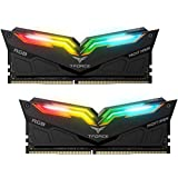 Team T-Force Night Hawk RGB 16GB (2 x 8GB) 288-Pin DDR4 SDRAM DDR4 3200 (PC4 25600) Memory (Desktop Memory) Model TF1D416G3200HC16CDC01 (Black) (Tamaño: 16 Gb)