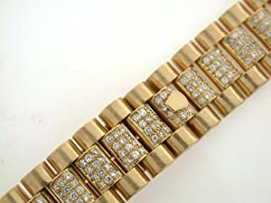 Mens 18ky President Watch Band with Diamonds for Rolex