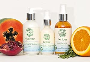 Gift Set: Organic - Le Jour Vitamin C Toner Mist; Cream; and Hydrate Cleanser - Paraben Free!