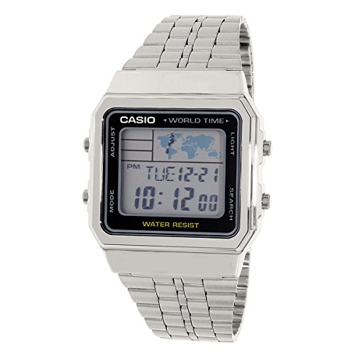 Casio A500WA-1D Vintage  - Wristwatch Unisex, Stainless Steel, Band Colour: Grey