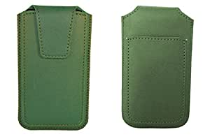 TOTTA PU Leather Pull Up Pouch For IBall Andi 5K Infinito2- GREEN