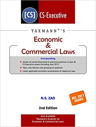 Economic & Commericial Laws CS Executive December 2017 Exams
