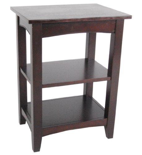 Alaterre Shaker Cottage 2-Shelf End Table, Espresso