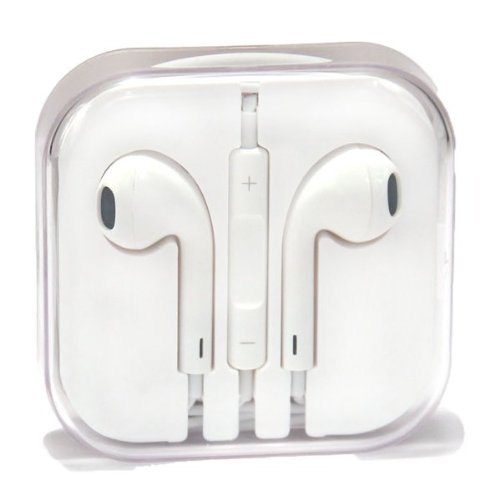 Teraxy® Earbuds Earpods With Mic And Remote Earphone Headphone Compatible With Iphone, Ipod [Type V], Ipad (White)