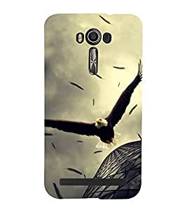 Fuson Premium Back Case Cover Flying Eagle With Multi Background Degined For Asus Zenfone 2 Laser ZE550KL::Asus Zenfone 2 Laser ZE550KL (5.5 Inches)