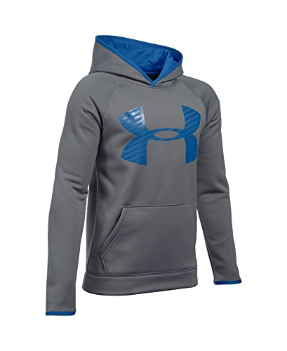 Under Armour Boys' Storm Armour Fleece Highlight Big Logo Hoodie, Graphite (040), Youth Large