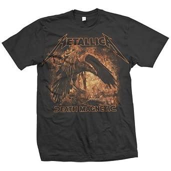 Bravado Men's Metallica Raven T-Shirt,Black,X-Large