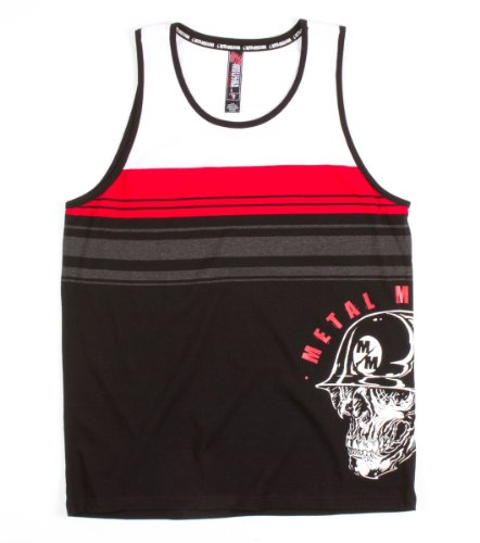 Metal Mulisha - Mens Count Down Tank Top, Size: X-Large, Color: Black W/ Red