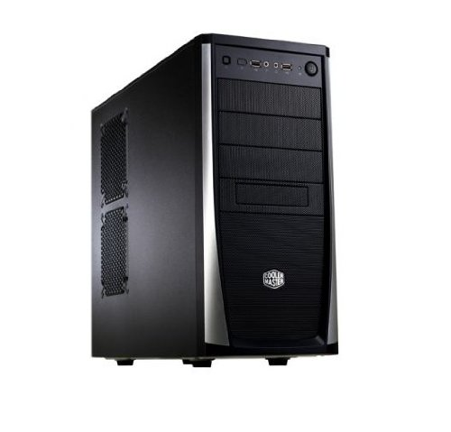 Cooler Master RC-371-KKN1 Elite Midi Tower PC Case Black and Silver
