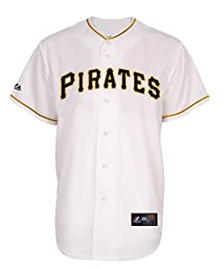 MLB Pittsburgh Pirates Home Replica Baseball Youth Jersey, White by Majestic