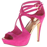 DV by Dolce Vita Women's Brielle Dress Sandal,Hot Pink Suede,9 M US