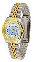 North Carolina Tar Heels UNC NCAA Womens 23Kt Gold Watch