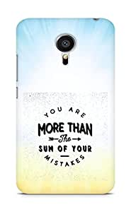 AMEZ you are more than the sum of your mistakes Back Cover For Meizu MX5