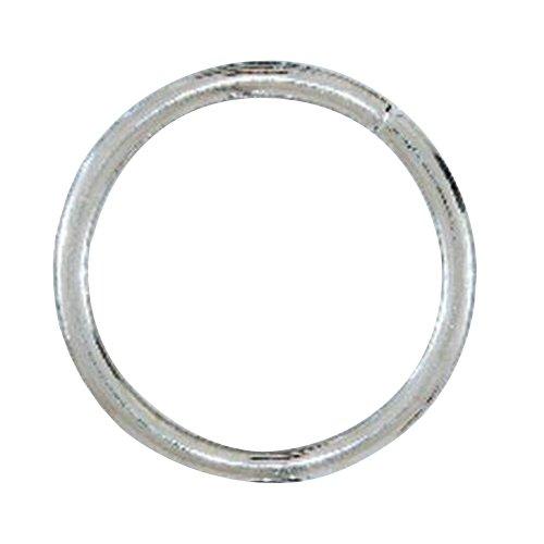 Lehigh 7066-6 1/4-Inch by 2-Inch Steel Welded Rings, Nickel Plated, 2-Pack