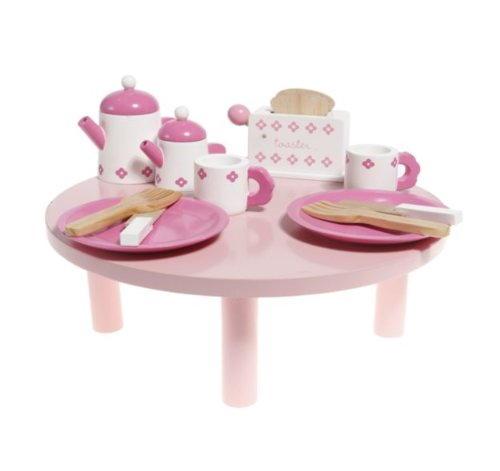 Wooden Tea and Toast Table , role play, kitchen toy