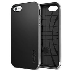 SPIGEN Case für iPhone 5C Hülle NEO HYBRID [Slim Fit Dual Layer Protection]- Schutzhülle Tasche [Satin Silver - SGP10508]