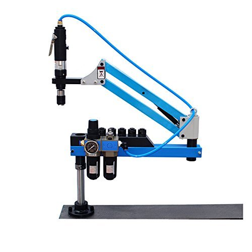38mm Universal Flexible Arm Pneumatic Air Tapping Machine 360° Angle Tapping range M3 to M12 tap collets:M3,M4,M5,(M6),M8,M10 and M12 Pneumatic Arm