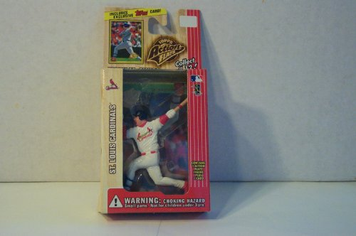 Topps - Action Flats - MLB - 1999 Series 1 - Mark McGwire - St. Louis Cardinals - 1 Action Flat Figure & 1 Exclusive Foil Stamped Trading Card - Vintage - Limited Edition - Collectible - 1