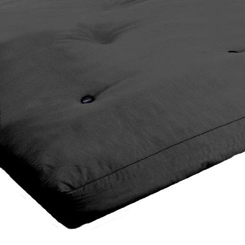 Black 3 Seater Futon Mattress with Reflex Foam