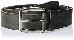 Parx Men's Leather Belt (8903576714444_95_Black)