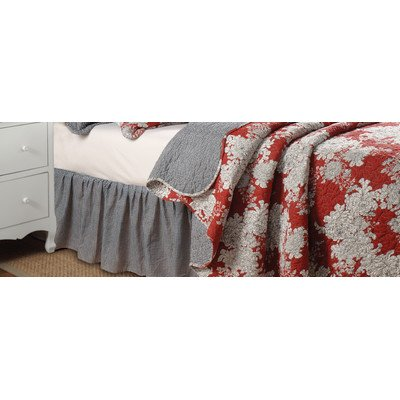 Greenland Home Lorraine Bed Skirt, Full front-226593