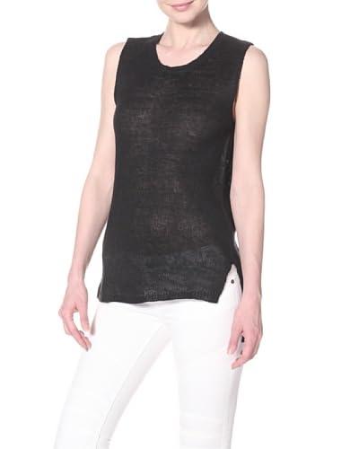 Cullen Women's Cullen Sleeveless Keyhole Back Sweater  - Black