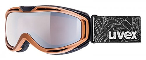 uvex hypersonic, brown/ double lens spheric lite mirror silver, -