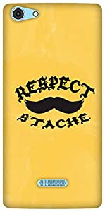The Racoon Grip Respect The Stache hard plastic printed back case / cover for Micromax Canvas Selfie 3 Q348