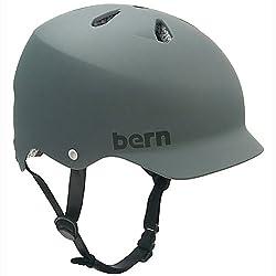 Bern Watts Matte Black Hardhat -Grey - Large by Bern