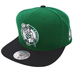 Boston Celtics Mitchell & Ness Logo Snapback Cap Hat by Mitchell & Ness