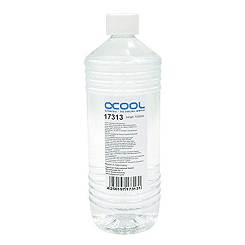 Alphacool Ultra Pure Water Clear Coolant 1000ml For PC Liquid Cooling Non UV (Alphacool Liquid Cooling compare prices)