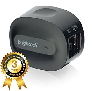 Brightech - BrightPlay Home HD™ Bluetooth 4.0 Music Receiver / Adapter with apt-X Technology for CD Quality Sound - Adds Bluetooth Functionality to Non-Bluetooth Sound Systems. Stream Music with Startling Clarity from your Mobile Device to Speakers and Stereos - Connect 2 Devices Simultaneously and Have A DJ Battle with a Friend!