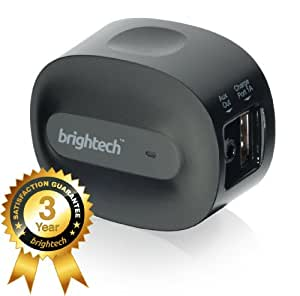 Brightech - BrightPlay Home HDTM Bluetooth 4.0 Music Receiver / Adapter with apt-X Technology for CD Quality Sound - Adds Bluetooth Functionality to Non-Bluetooth Sound Systems. Stream Music with Startling Clarity from your Mobile Device to Speakers and Stereos - Connect 2 Devices Simultaneously and Have A DJ Battle with a Friend! - Black Color