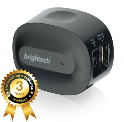 Brightech - Brightplay Home Hd™ Bluetooth 4.0 Music Receiver / Adapter With Apt-X Technology For Cd Quality Sound - Adds Bluetooth Functionality To Non-Bluetooth Sound Systems. Stream Music With Startling Clarity From Your Mobile Device To Speakers And St