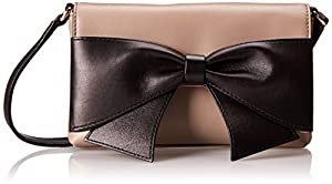 kate spade new york Hanover Street Aster Cross Body Bag,Warm Putty/Black,One Size