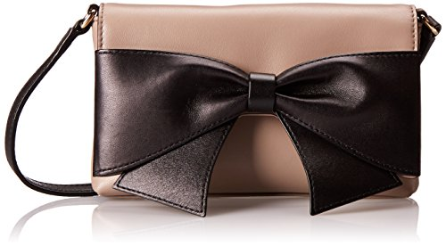 Kate Spade New York Hanover Street Aster Cross Body Bag,Warm Putty/Black,One Size front-411737