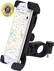 Zatous Bicycle Mount Bike Phone Mount Universal Bicycle Phone Holder Cycle Adjustable Cradle Handlebar Roll Bar For GPS Smartphone X8hei