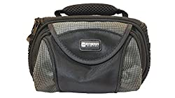 Canon VIXIA HF R500 Camcorder Case Camcorder and Digital Camera Case - Carry Handle & Adjustable Shoulder Strap - Black / Grey - Replacement by Synergy