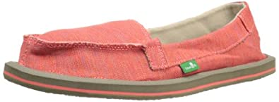Sanuk Women's Shorty Sidewalk Surfer,Coral Multi,5 M US