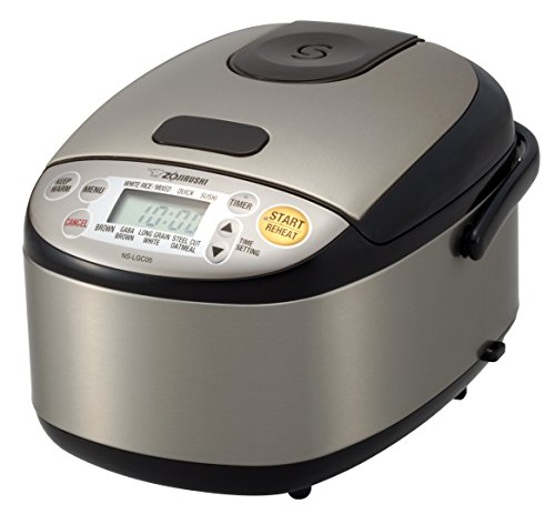 Zojirushi NS-LGC05XB Micom Rice Cooker & Warmer, Stainless Black (Rice Sushi Cooker compare prices)