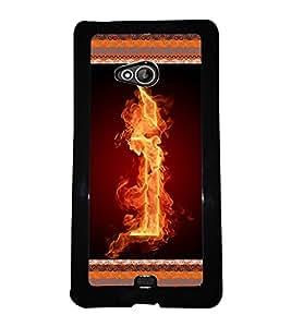 Printvisa 2D Printed Alphabet I Designer back case cover for Nokia XL 540- D4198